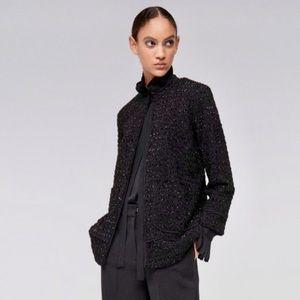 NWOT SFERA knitted tweed black jacket